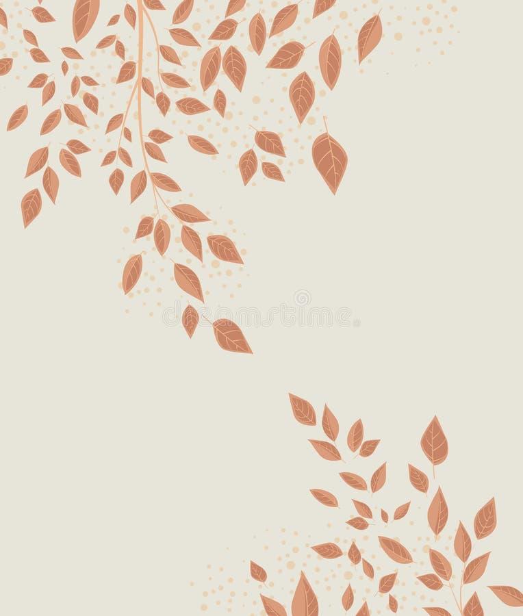 Folhas de outono do fundo ilustração do vetor