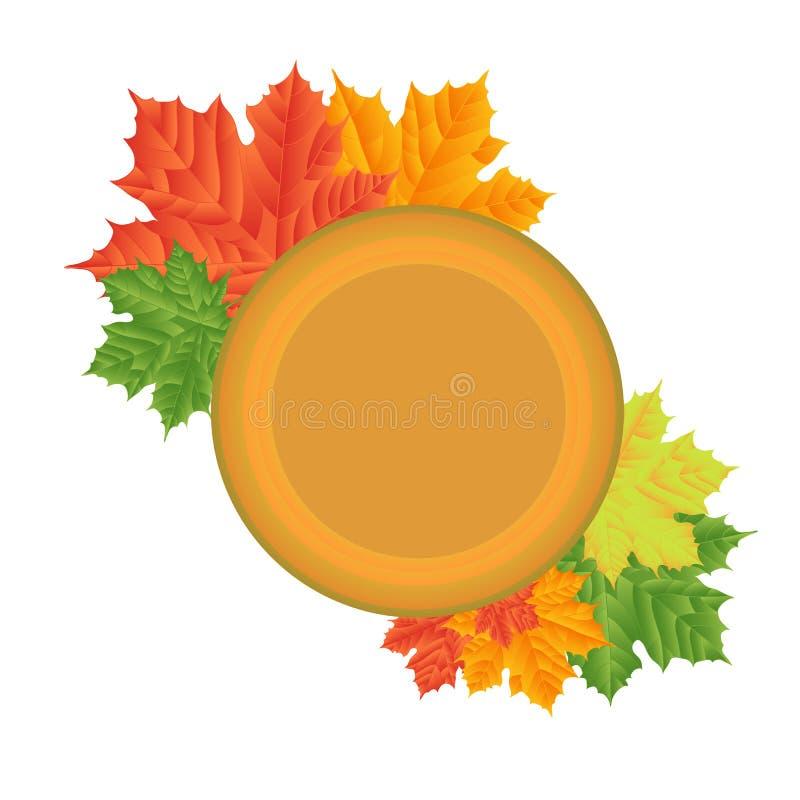 Folhas de outono em um fundo branco isolado sem uma sombra ilustração royalty free
