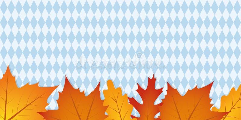 Folhas de outono no fundo da textura da bandeira do bavaria ilustração stock