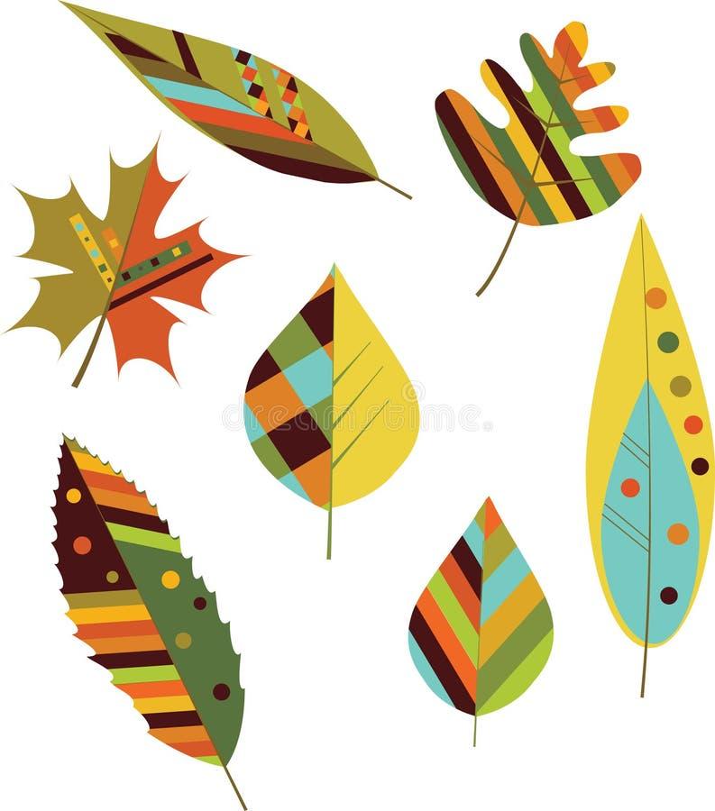 Folhas de outono sem emenda. ilustração stock