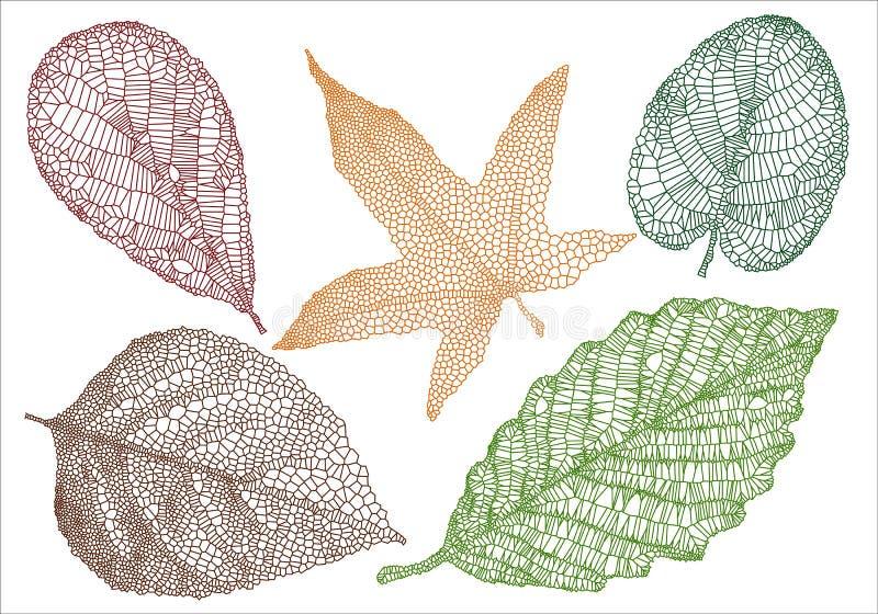 Folhas de outono Textured ilustração royalty free