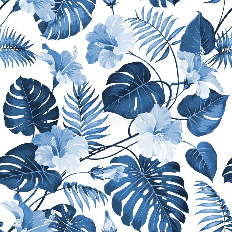 Folhas de palmeira tópicas ilustração royalty free