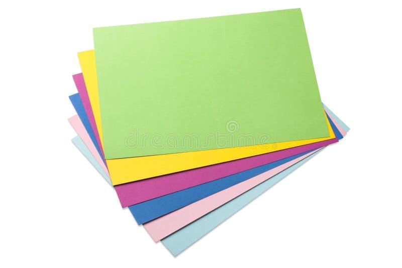 folhas de papel coloridas fotografia de stock royalty free