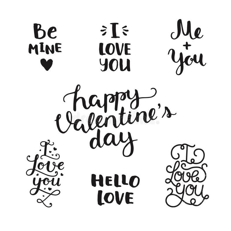 Folhas de prova da foto do dia de Valentim do vetor ilustração royalty free