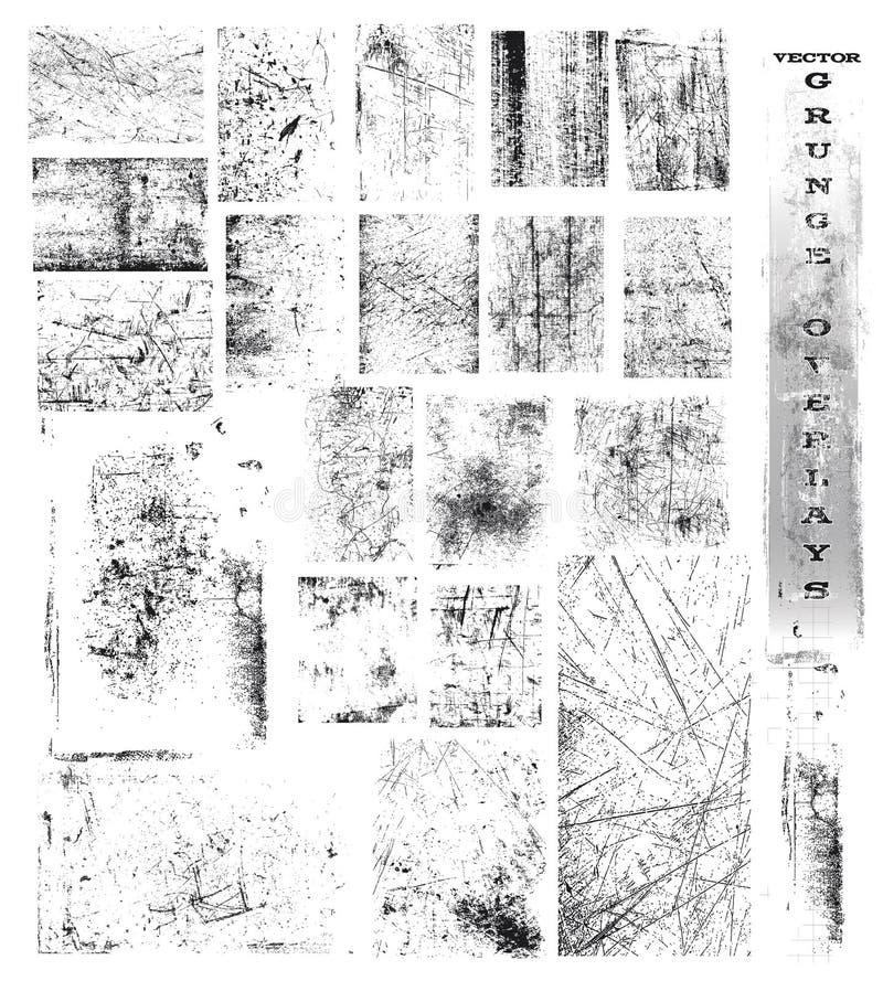 Folhas de prova de Grunge do vetor ilustração do vetor