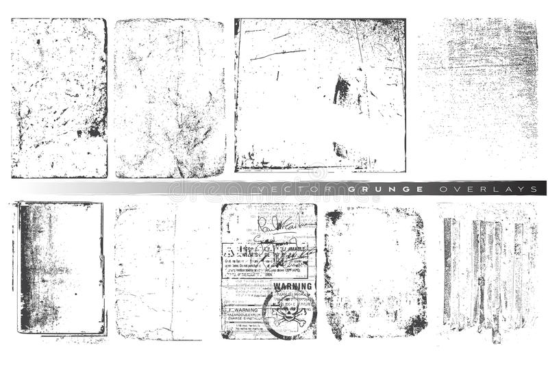 Folhas de prova do grunge do vetor ilustração stock