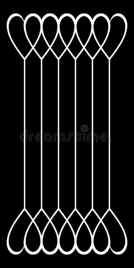 Folhas de prova de Picsart Papel, compartimentos ilustração stock