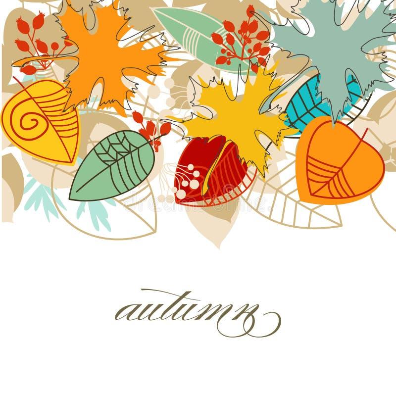 Folhas de queda do outono ilustração royalty free