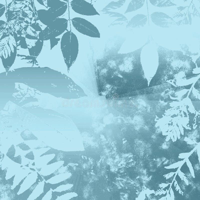 Folhas do azul do inverno ilustração stock