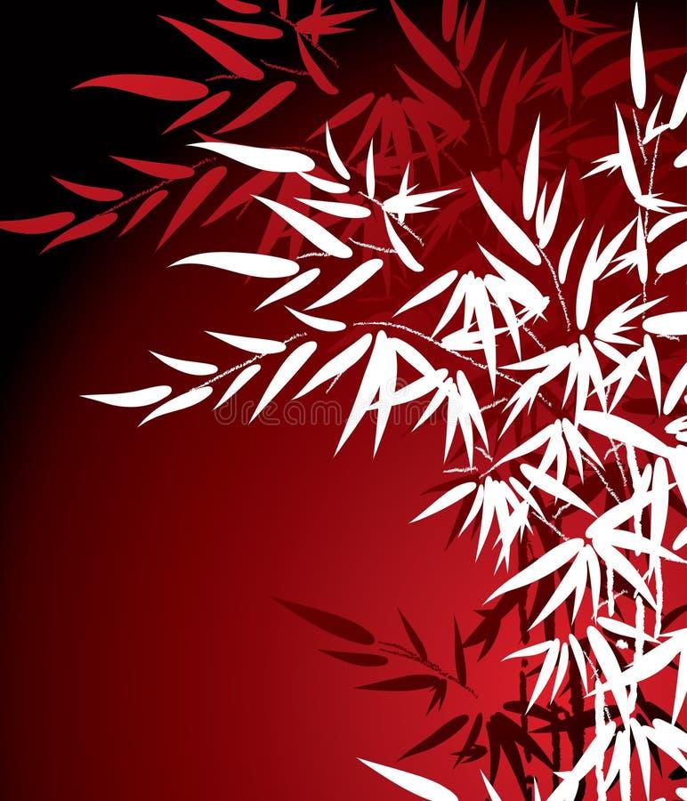 Folhas do bambu ilustração do vetor