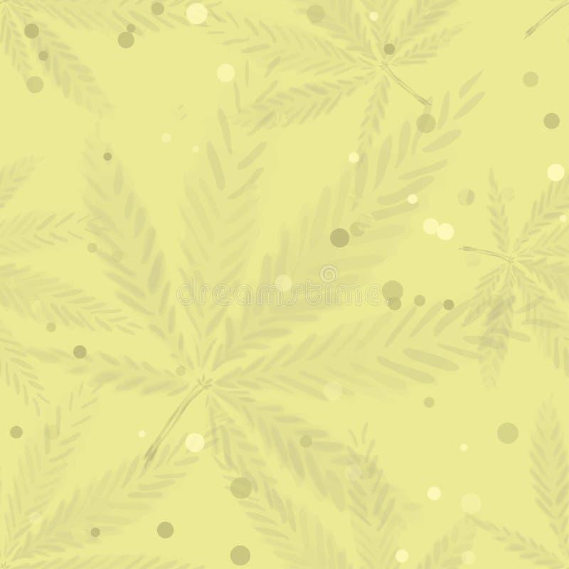 Folhas do cannabis - teste padrão sem emenda ilustração do vetor
