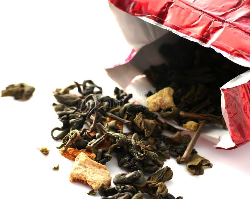 Folhas do chá imagem de stock