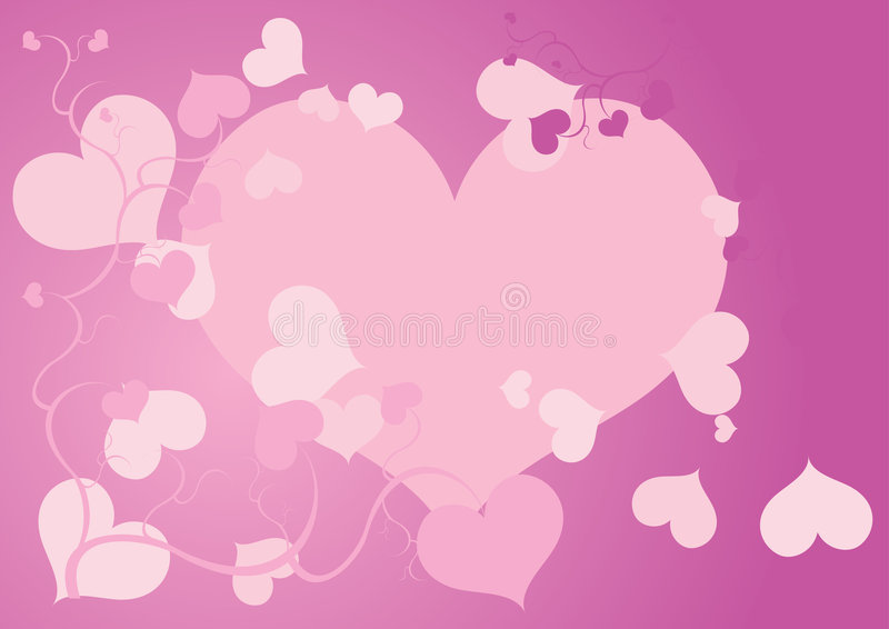 Folhas do coração ilustração do vetor