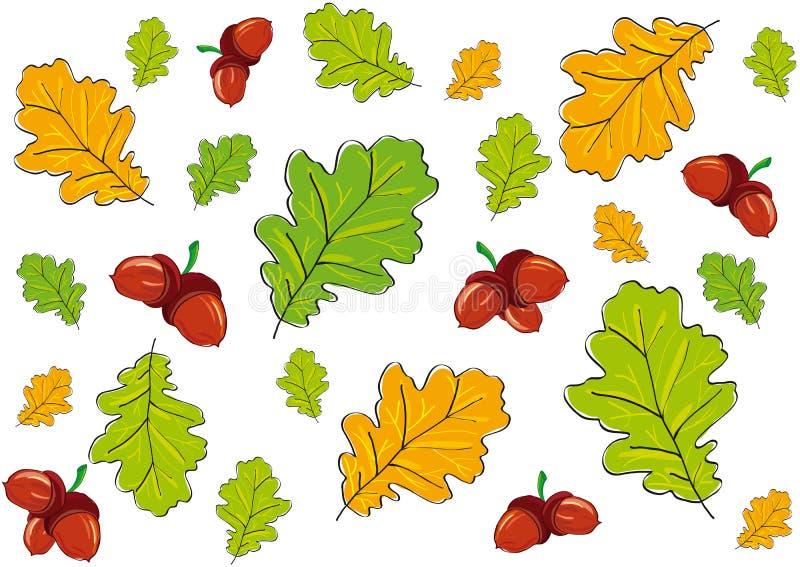 Folhas do fundo ilustração stock