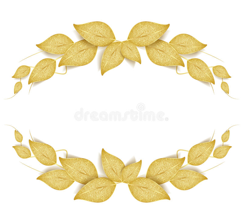 Folhas douradas ilustração do vetor