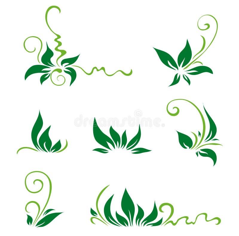 Folhas e redemoinhos para a decoração