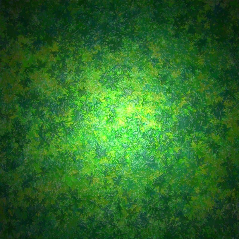 Folhas plásticas do verde ilustração royalty free