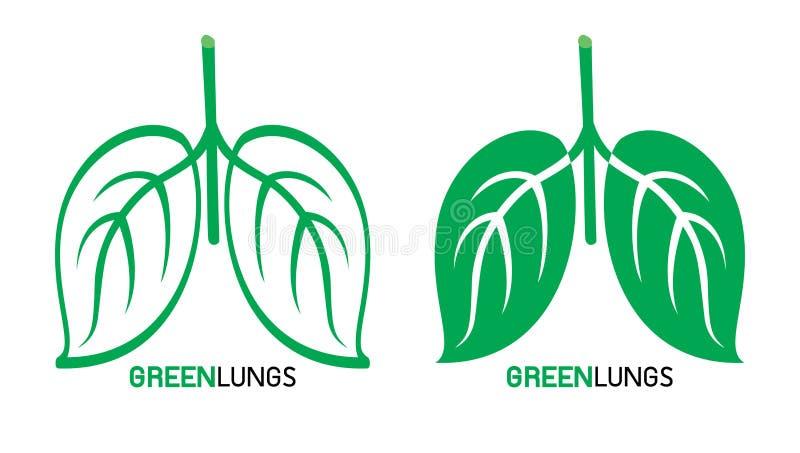 Folhas projetadas como os pulmões humanos, ilustração do vetor