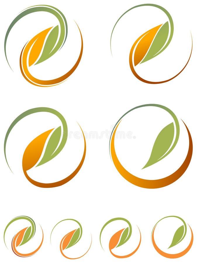 Folhas redondas ilustração royalty free