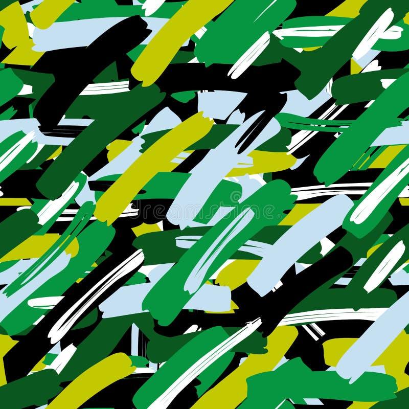 Folhas tropicais do teste padrão sem emenda da camuflagem do sumário, forma, interior, envolvendo o conceito ilustração royalty free