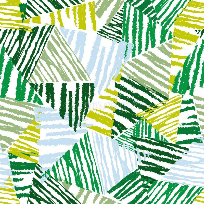 Folhas tropicais do teste padrão sem emenda floral do sumário, forma, interior, envolvendo o conceito Ilustração do vetor foto de stock