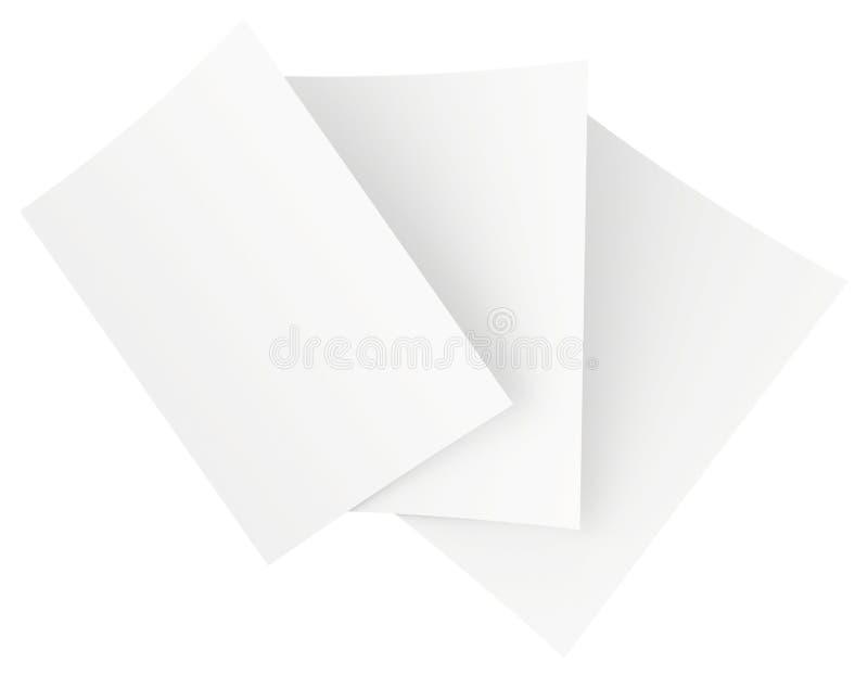 Folhas vazias do Livro Branco empilhadas na ordem fotos de stock royalty free