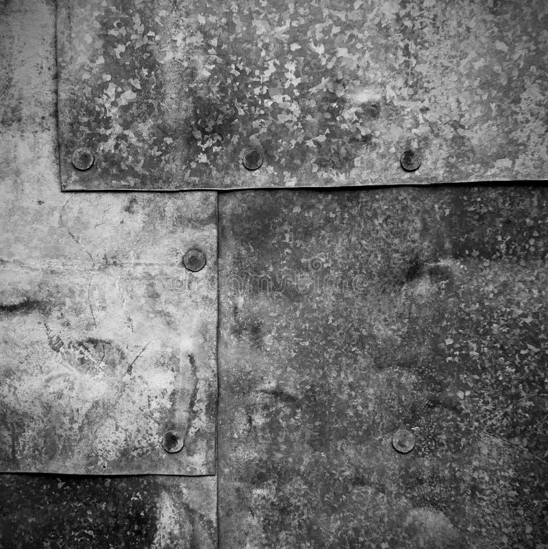 Folhas velhas da textura galvanizada do ferro imagem de stock