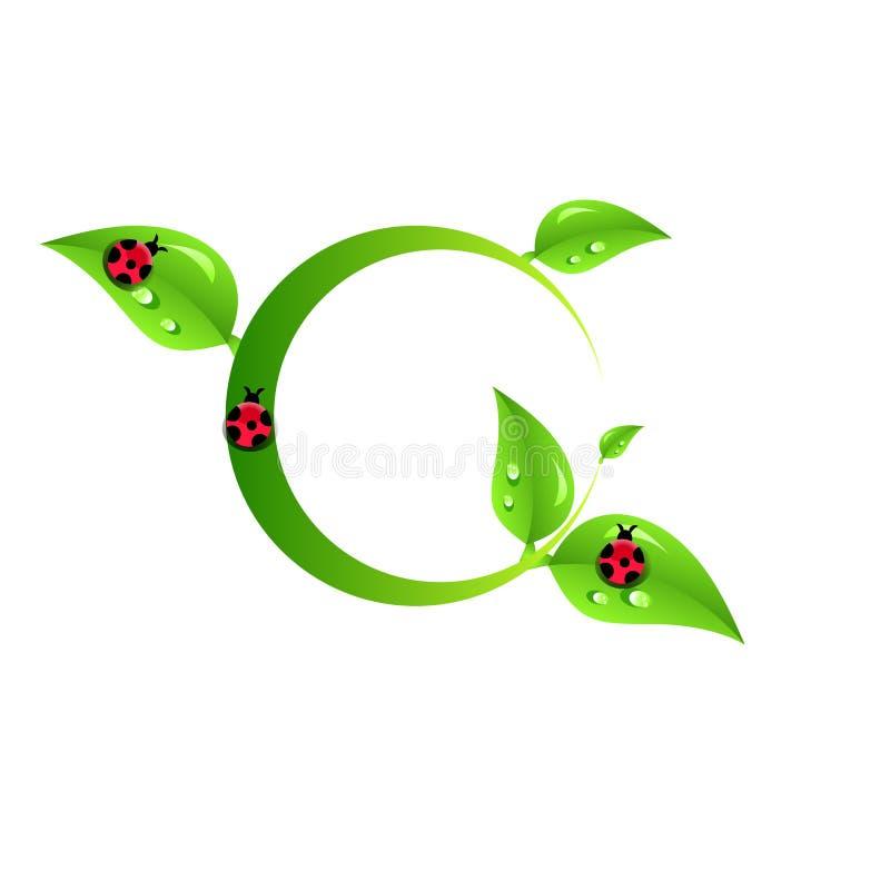Folhas verdes do papel do sumário do eco imagem de stock royalty free
