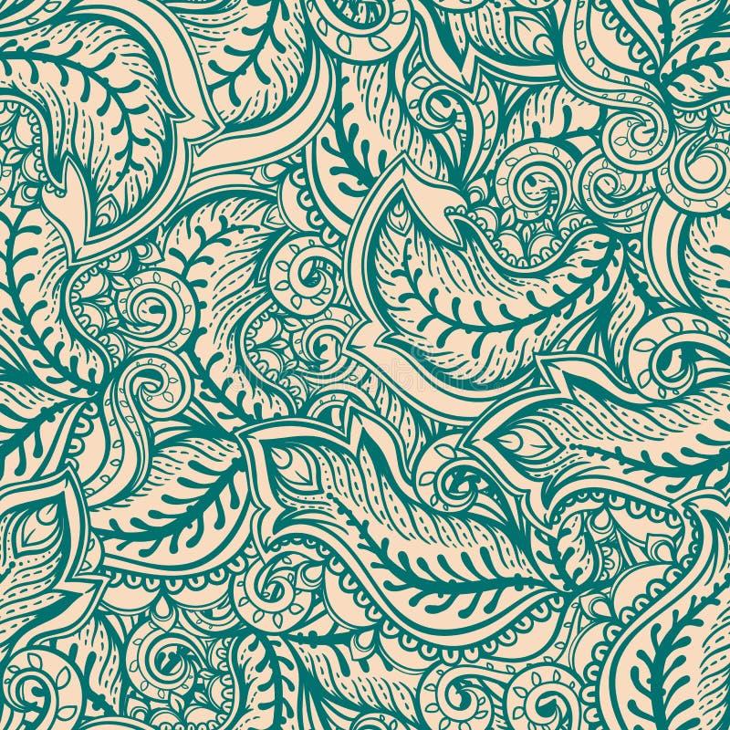 Folhas verdes e do bege ilustração stock