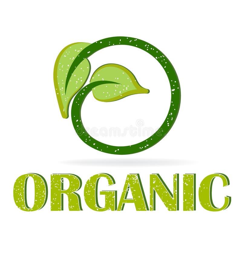 Folhas verdes orgânicas ilustração royalty free