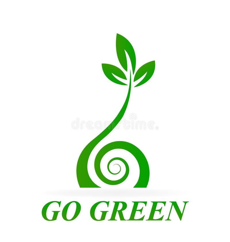 Folhas verdes saudáveis ilustração royalty free