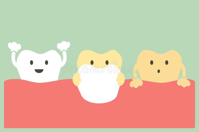 Folheia os dentes ilustração stock