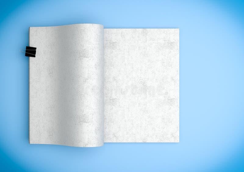 folheto aberto com espaço da cópia para anunciar o illustratio do uso 3d ilustração stock