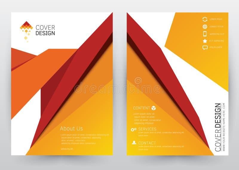 Folheto ajustado do molde do vetor do projeto da tampa, informe anual, compartimento, cartaz, apresentação incorporada, portfólio ilustração royalty free