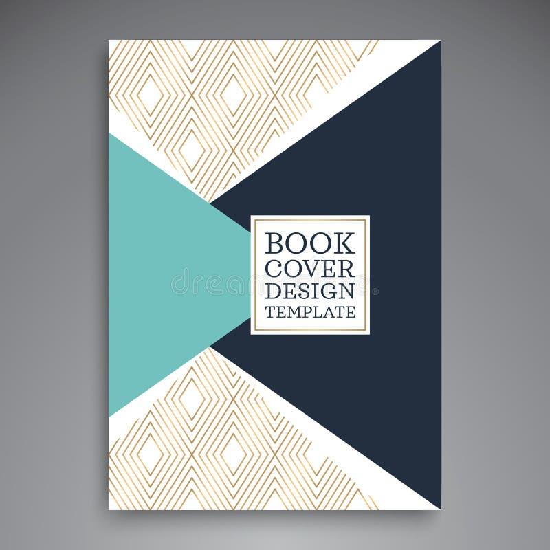 Folheto azul do informe anual do vetor do triângulo ilustração royalty free