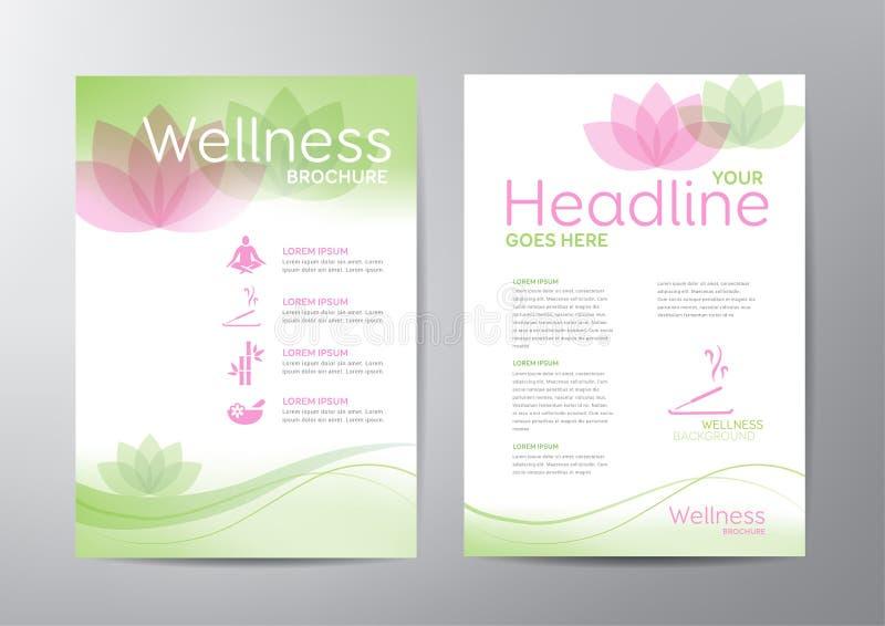 Folheto do bem-estar ilustração do vetor