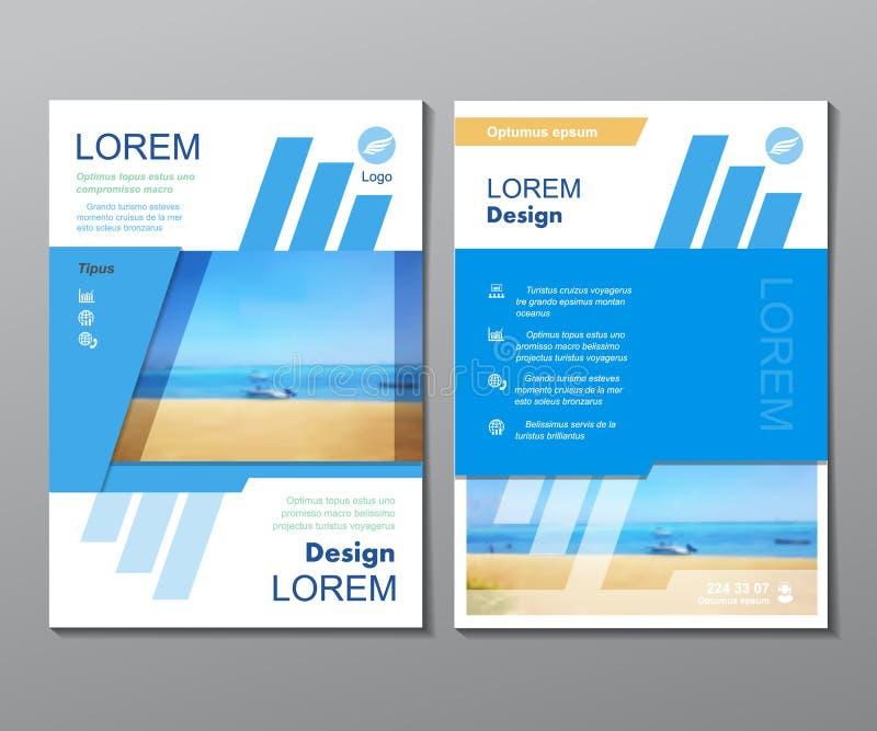 Folheto do curso do projeto do molde do negócio, compartimento ilustração do vetor