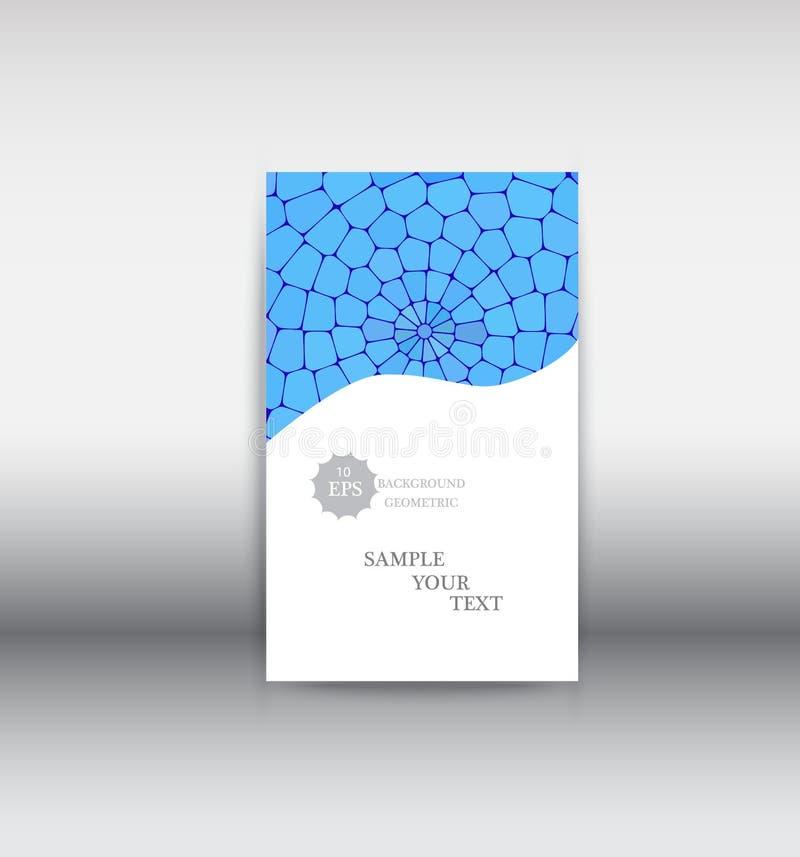Folheto do negócio Projeto do insecto Molde da dobra dos folhetos 3 Livro e compartimento da tampa ilustração do vetor