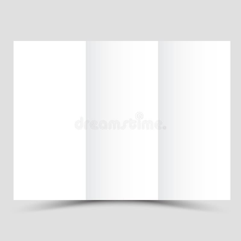 Folheto do negócio Projeto do insecto Molde da dobra dos folhetos 3 Livro e compartimento da tampa ilustração stock