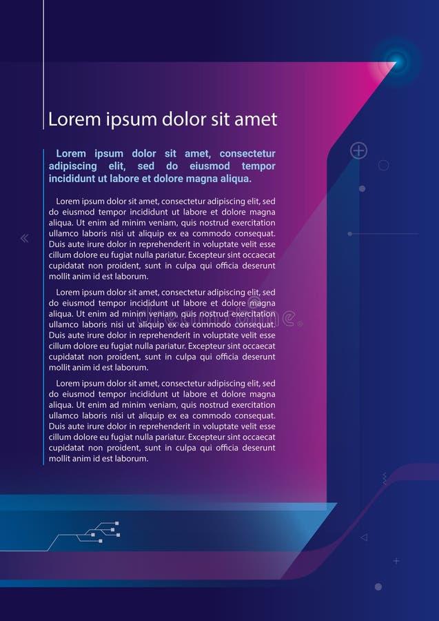 Folheto do folheto do relatório da Web do projeto do molde do inseto imagem de stock