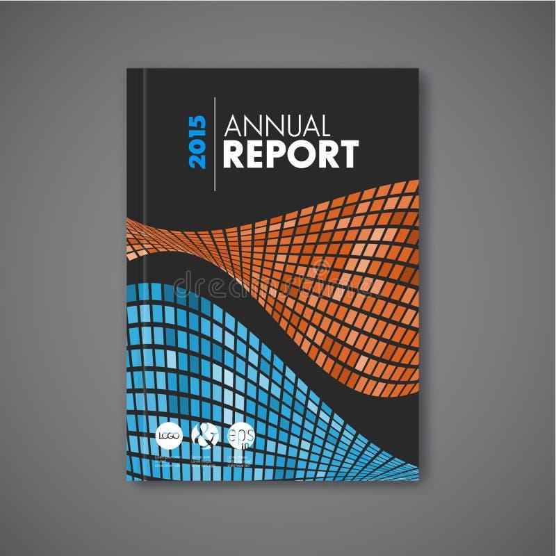 Folheto do sumário do vetor/molde modernos projeto do relatório ilustração royalty free