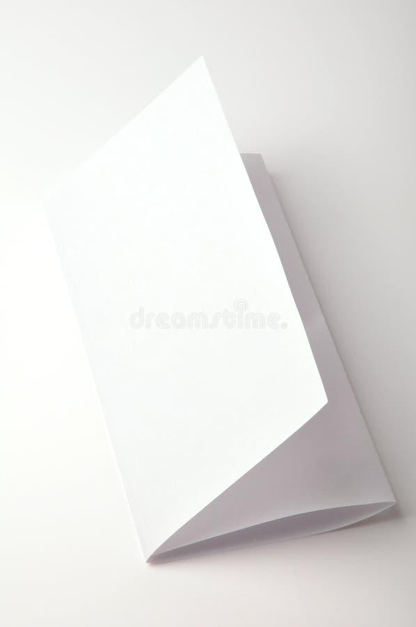 Folheto em branco imagem de stock