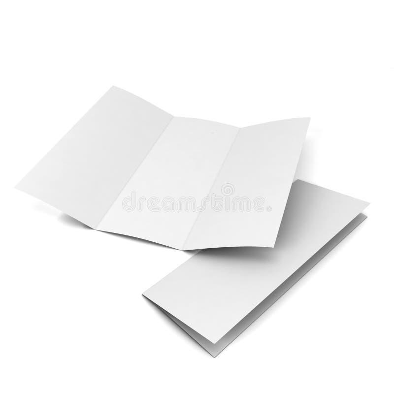 Folheto em branco ilustração do vetor
