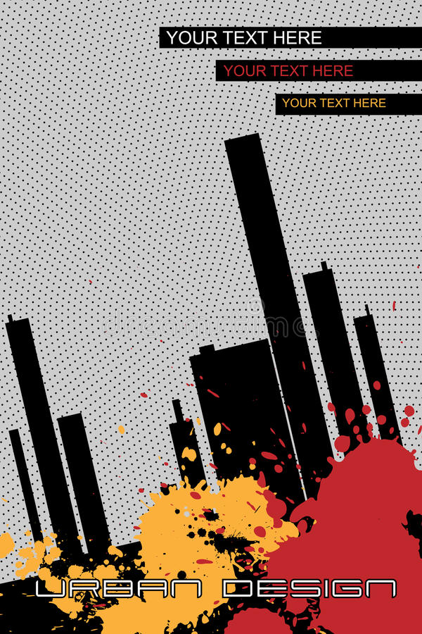 Folheto-fundo urbano do projeto - vetor ilustração do vetor