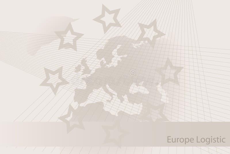 Folheto logístico de Europa - fundo ilustração do vetor
