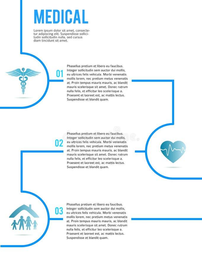 Folheto médico page09 do contexto da tampa do conceito ilustração do vetor