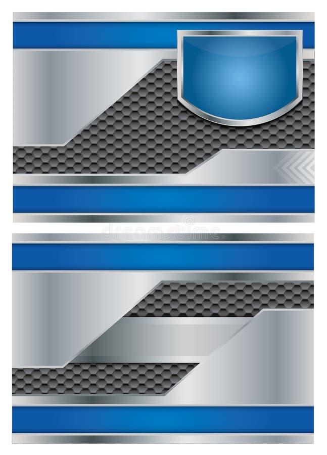 Folheto metálico abstrato do vetor ilustração stock