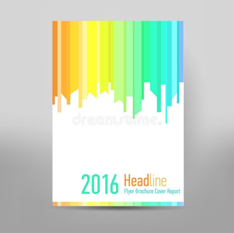 Folheto moderno do informe anual da tampa - folheto do negócio - catalogue a tampa, o projeto do inseto, o tamanho A4, a primeira ilustração royalty free