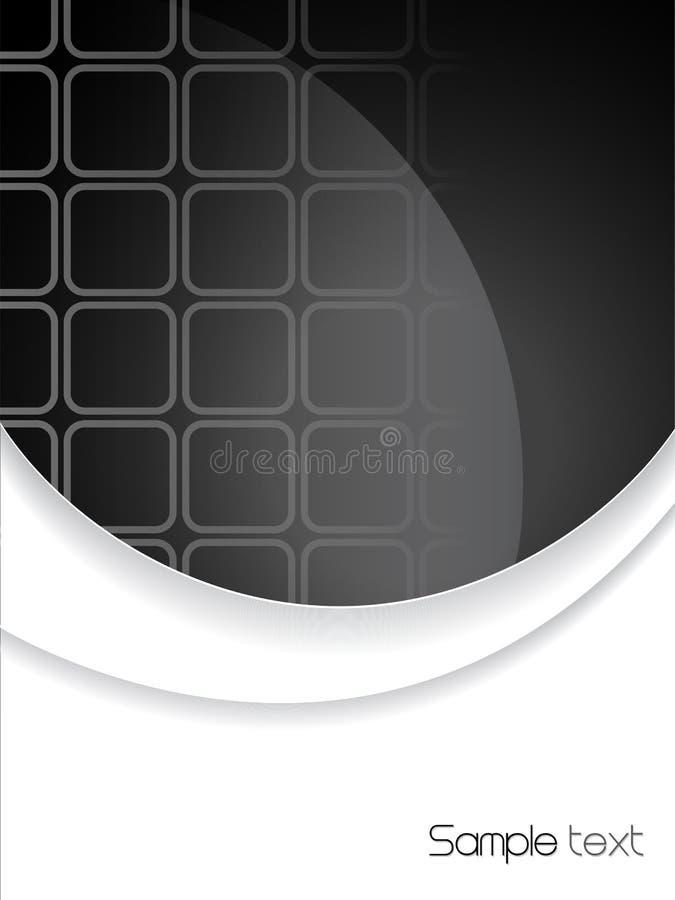 Folheto preto e branco abstrato ilustração royalty free