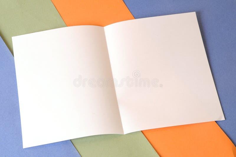 Folheto vazio fotografia de stock